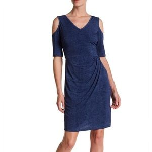 Maggy London // Cold Shoulder Denim Jersey Dress